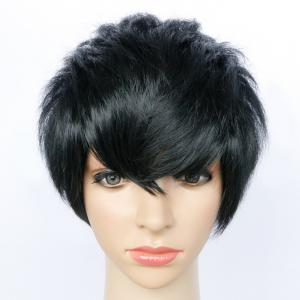 Spiffy Ultrashort Side Bang Straight Synthetic Wig -