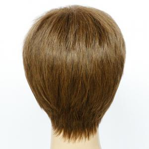 Spiffy Mixed Color Ultrashort Side Bang Straight Synthetic Wig -