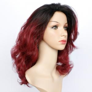 Double Color Long Fluffy Wavy Synthetic Capless Wig - COLORMIX