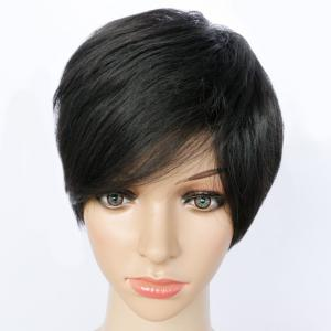 Short Pixie Cut Side Bang Straight Synthetic Capless Wig -