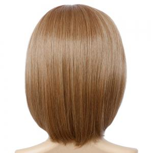 Short Full Bang Mixed Color Straight Synthetic Wig - COLORMIX