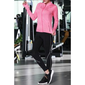 Zip Up Jacket With Bra With Yoga Pants -