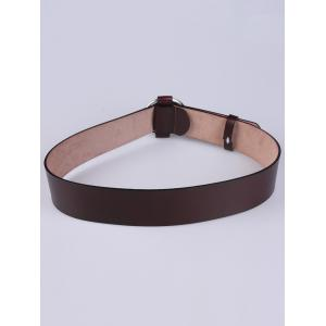Adjustable PU Round Buckle Belt -