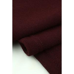 Self Tie Knit Popover Dress - BURGUNDY S