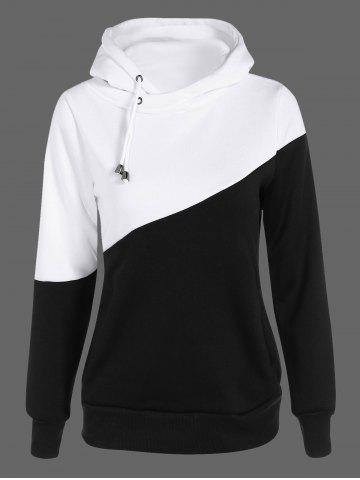 Buy Two Tone Plus Size Jumper Hoodie BLACK 5XL