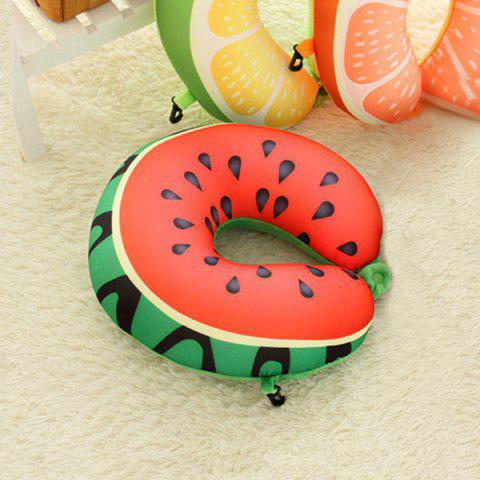 Affordable Travel Neck Support Watermelon U Shape Memory Foam Pillow