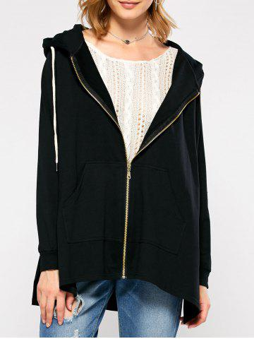 Outfits Hooded Asymmetrical Jacket