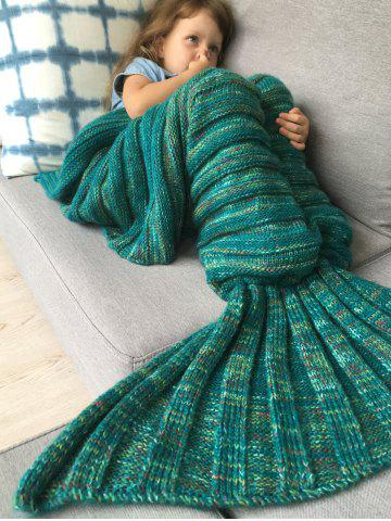 Épaissir douce tricotée Sleeping Bag Blanket enfants Wrap Mermaid