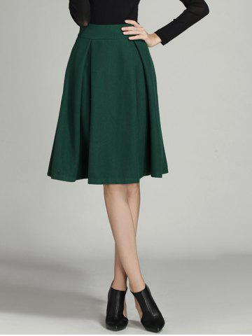 Buy Wool Ruched A Line Circle Skirt