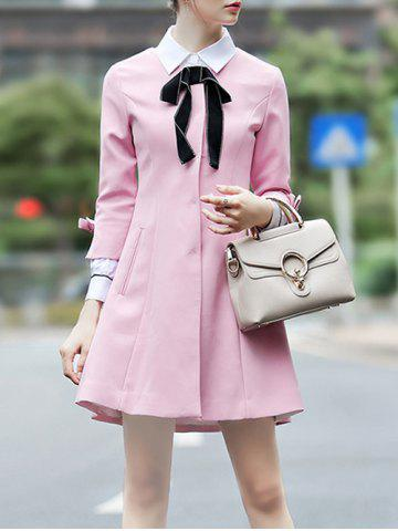 Pussy Bow Long Skirted Coat