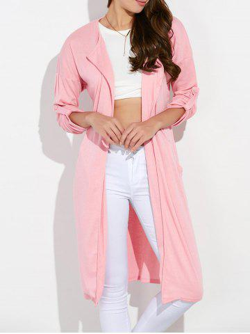 Shops Streetwear Pockets Ruched Duster Long Cardigan