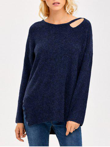 Store Cut Out Side Slit Sweater