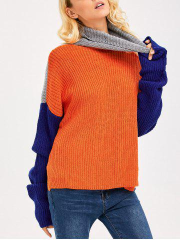 Drop Shoulder Side Slit Chunky Sweater - COLORMIX ONE SIZE