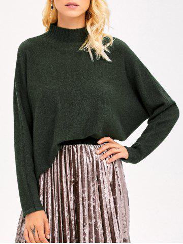 Chic Batwing Sleeve Boyfriend Sweater ARMY GREEN ONE SIZE