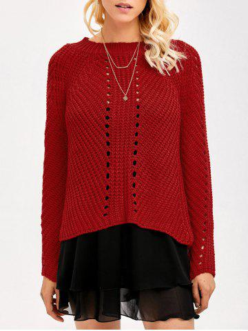 Outfits Hollow Out Insert Sweater