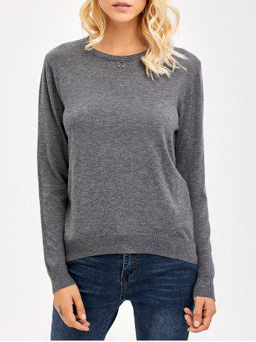 Shops Slimming Knitwear GRAY ONE SIZE