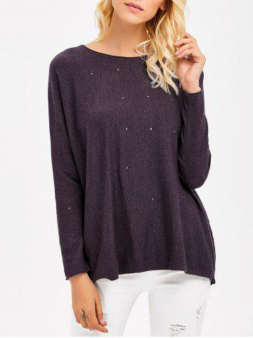 Cheap Hole Design Smock Knitwear