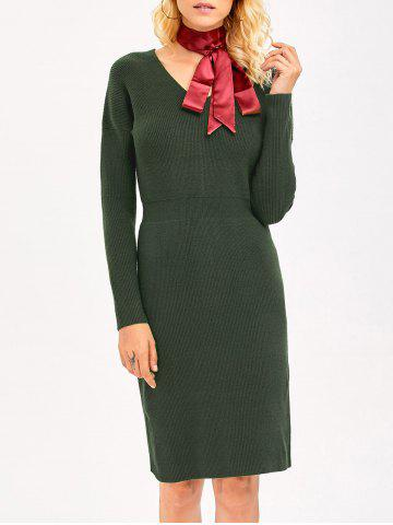 Buy High Waist Knit Pencil Dress