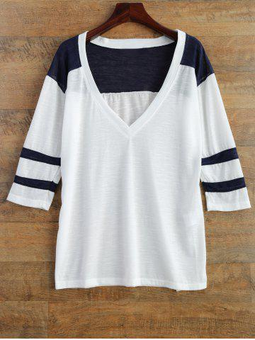 Store Color Block Tee WHITE 2XL