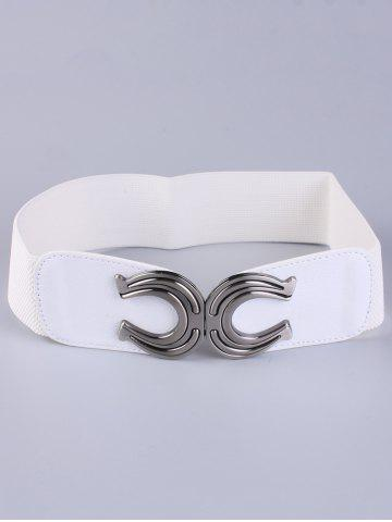 Latest X Shape Buckle Waist Cincher Elastic Belt