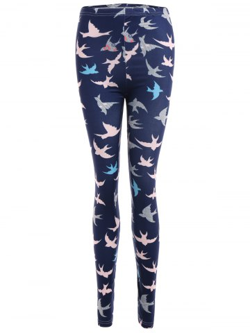 Hot Abstract Bird Print Stretchy Leggings