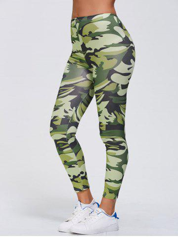 Chic Camo Print Stretchy Gym Leggings