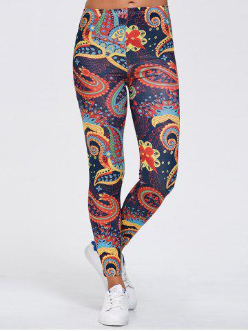 Outfit Paisley Print Sports Running Leggings