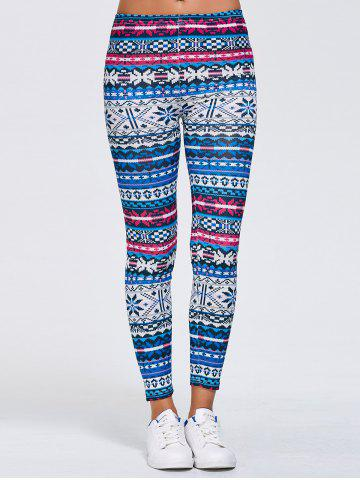Outfits Tribal Print Skinny Running Leggings BLUE XL