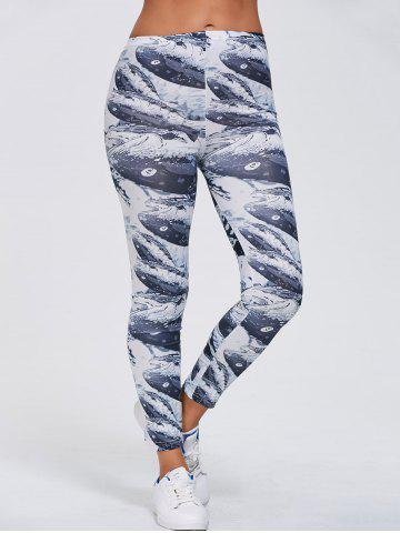 Unique Abstract Print Stretchy Slimming Leggings