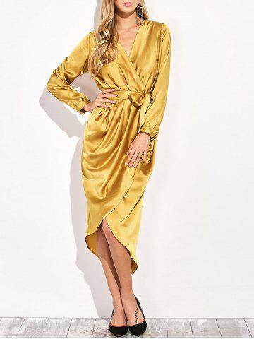 Shops Satin Tulip Wrap Dress