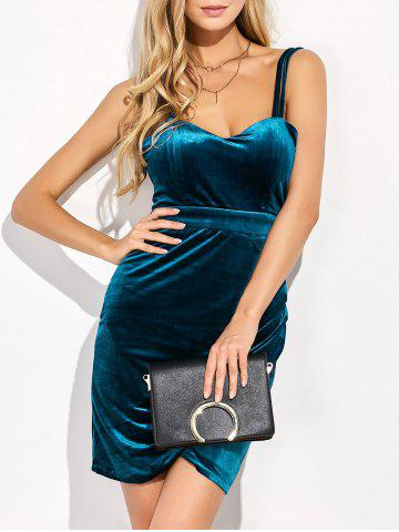 Latest Velvet Backless Short Dress