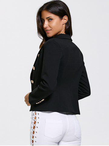 Chic Double Breasted Slimming Short Blazer - L BLACK Mobile
