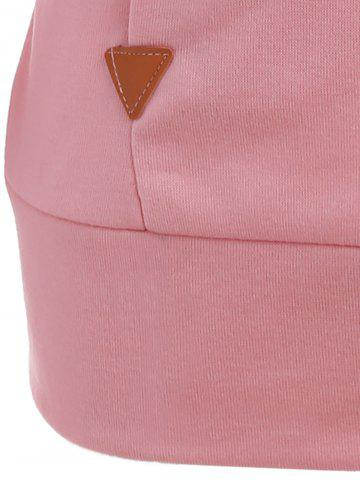 Fashion Pocket Patched Pullover Hoodie - PINK L Mobile