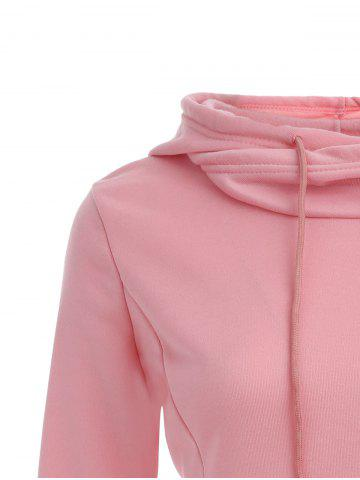 Discount Pocket Patched Pullover Hoodie - PINK L Mobile