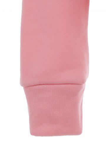 Hot Pocket Patched Pullover Hoodie - PINK L Mobile