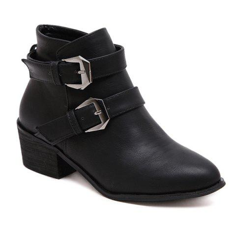 Shops Double Buckle Ankle Vintage Boots