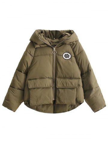 Shops High Low Puffer Jacket