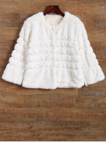 Outfits Scalloped Banded Faux Fur Coat