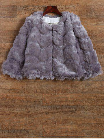 Store Waved Short Faux Mink Fur Coat