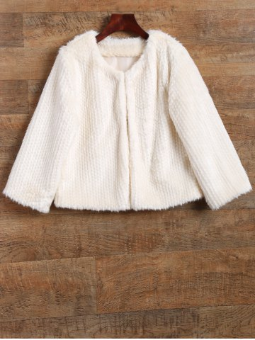 Affordable Knitted Short Faux Fur Coat