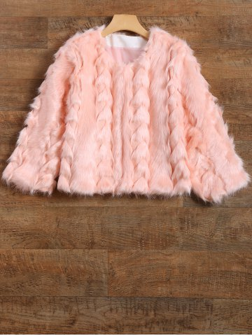 Outfit Fuzzy  Cropped Faux Fur Coat