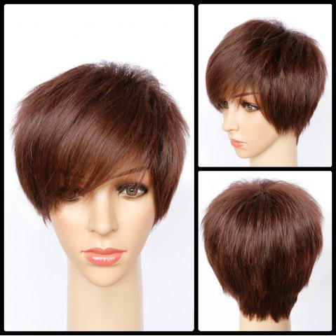 Best Short Fluffy Side Bang Straight Synthetic Wig