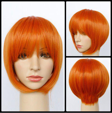 Buy Short Side Parting Straight Synthetic Capless Bob Wig