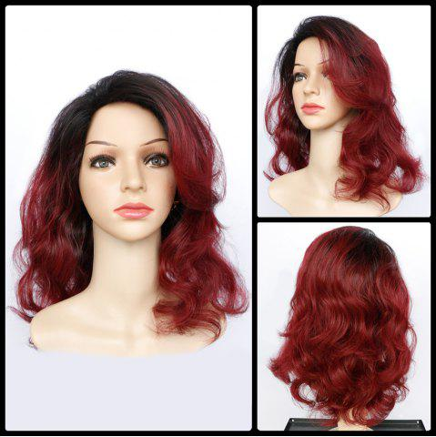 Discount Double Color Long Fluffy Wavy Synthetic Capless Wig COLORMIX
