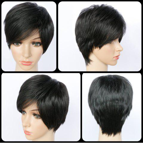 Outfit Short Pixie Cut Side Bang Straight Synthetic Capless Wig