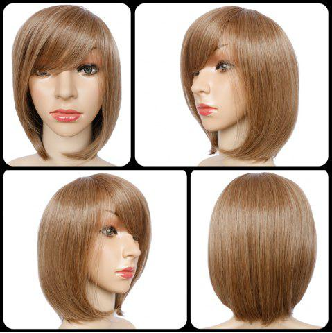 Sale Short Full Bang Mixed Color Straight Synthetic Wig COLORMIX