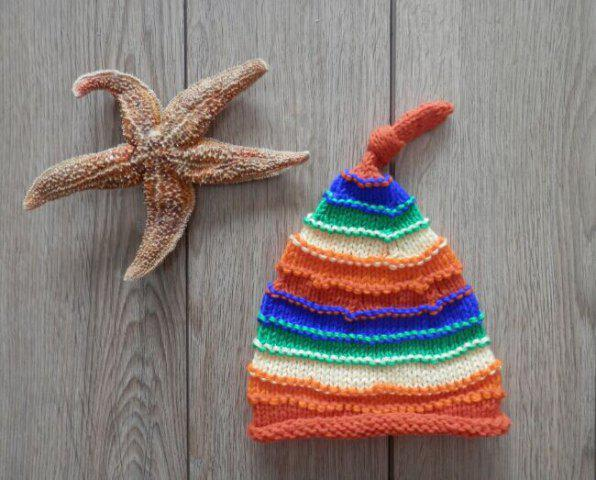 Hot Winter Baby Crochet Photography Rainbow Beanie Hat - M COLORFUL Mobile