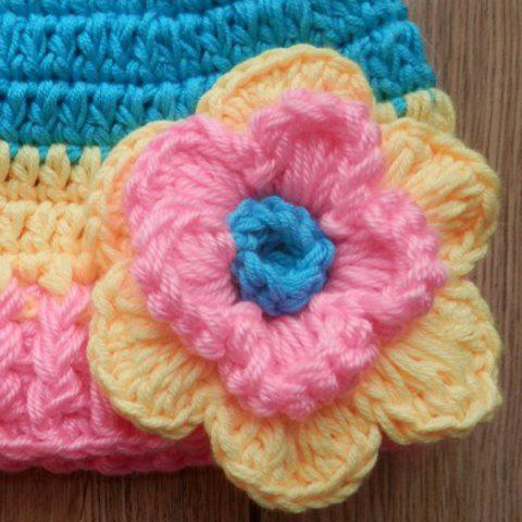 Trendy Winter Colorful Baby Crochet Photography Pom Beanie Hat - M COLORFUL Mobile