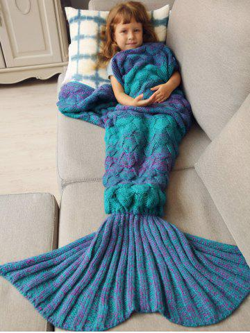 Shops Warmth Knitted Fish Scales Mermaid Blanket For Kids
