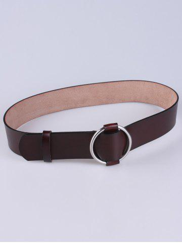 Sale Adjustable PU Round Buckle Belt